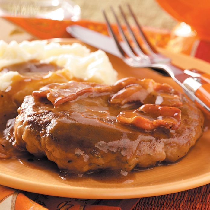 Salisbury Steak with Bacon