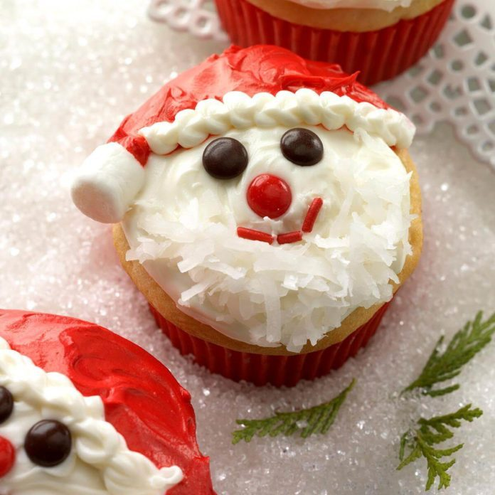 Day 2: Santa Cupcakes