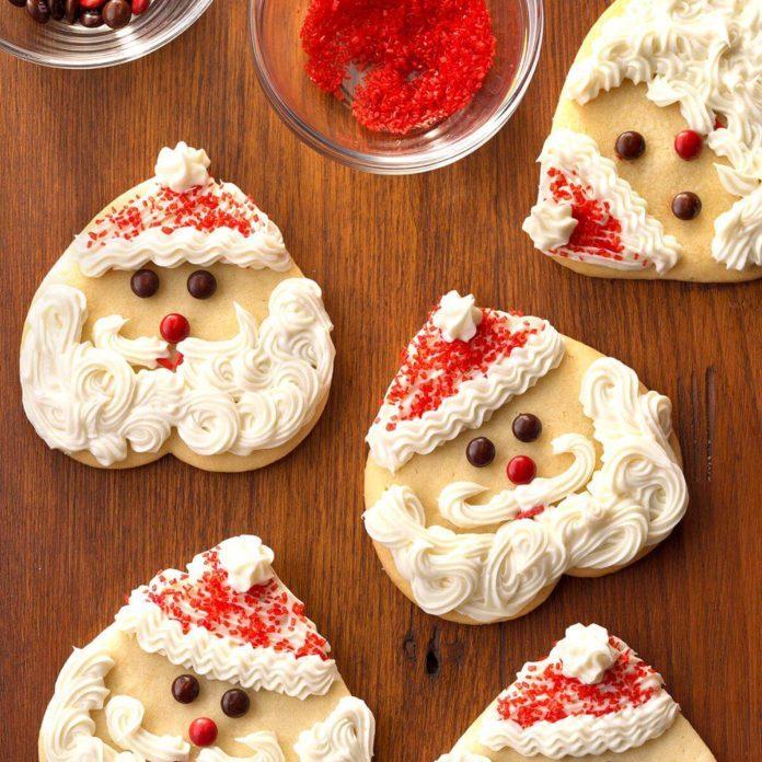 Santa Sugar Cookies Recipe Taste Of Home