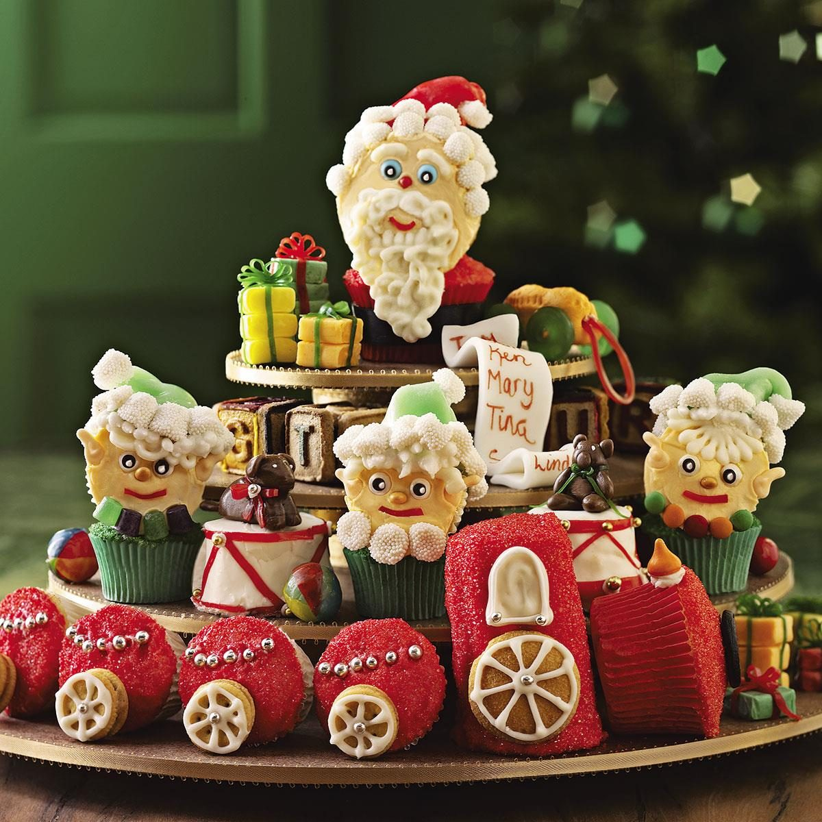 Santa's Workshop Cupcakes