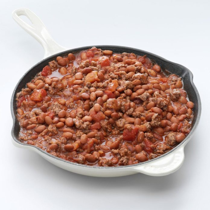 Saucy Beefy Beans