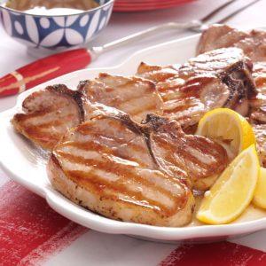 Saucy Grilled Pork Chops