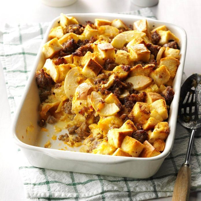 Sides: Sausage & Apple Overnight Casserole