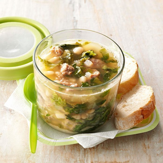 Day Three: Sausage & Cannellini Bean Soup
