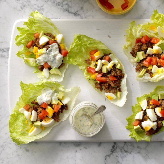 April 14: Sausage Cobb Salad Lettuce Wraps