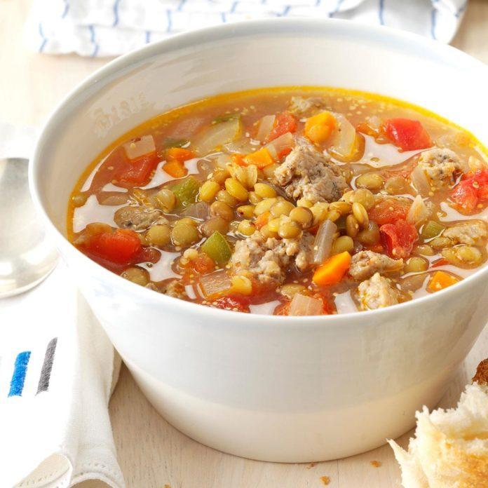 Colorado: Sausage Lentil Soup