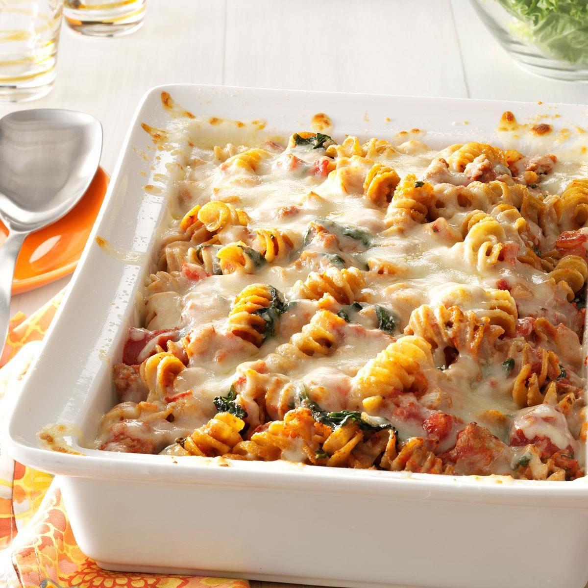 Sausage Spinach Pasta Bake Recipe