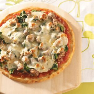 Sausage Spinach Pizza