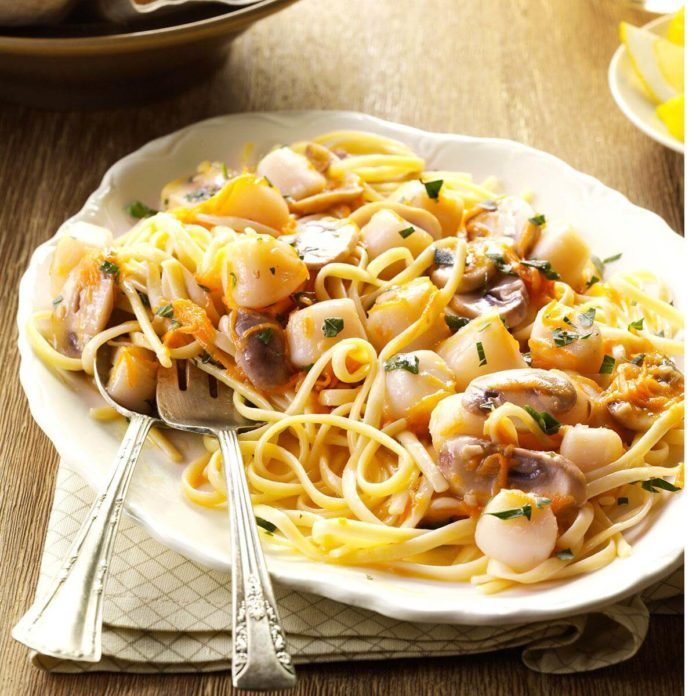 Scallops with Linguine