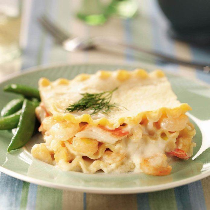 Seafood lasagna recipe taste of home seafood lasagna forumfinder Images