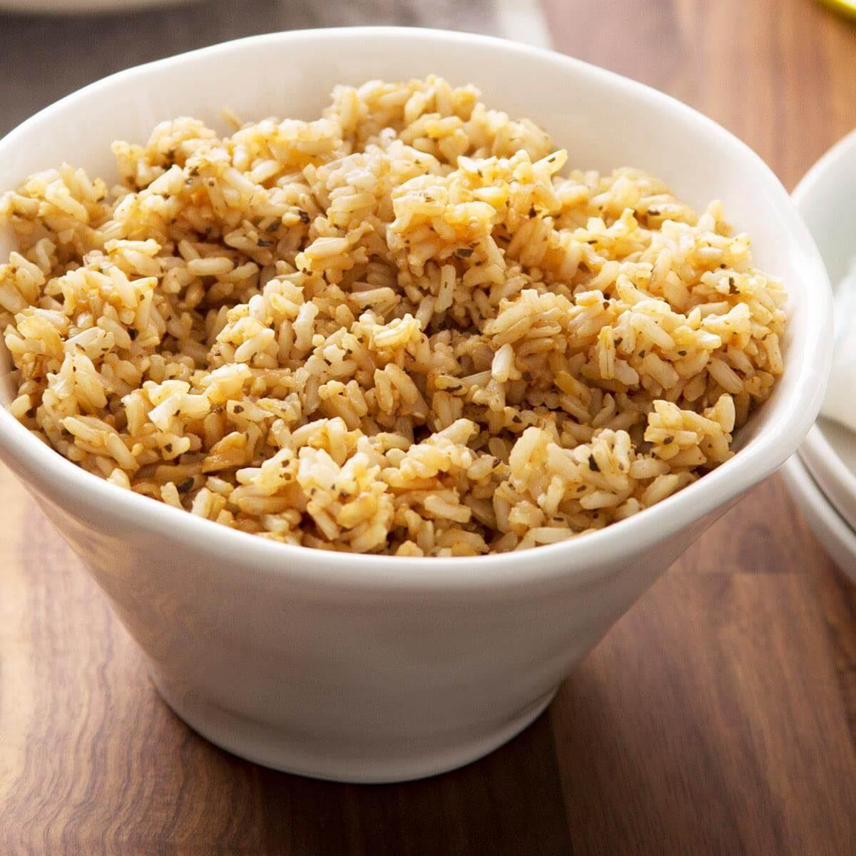 Seasoned Brown Rice Recipe   Taste of Home