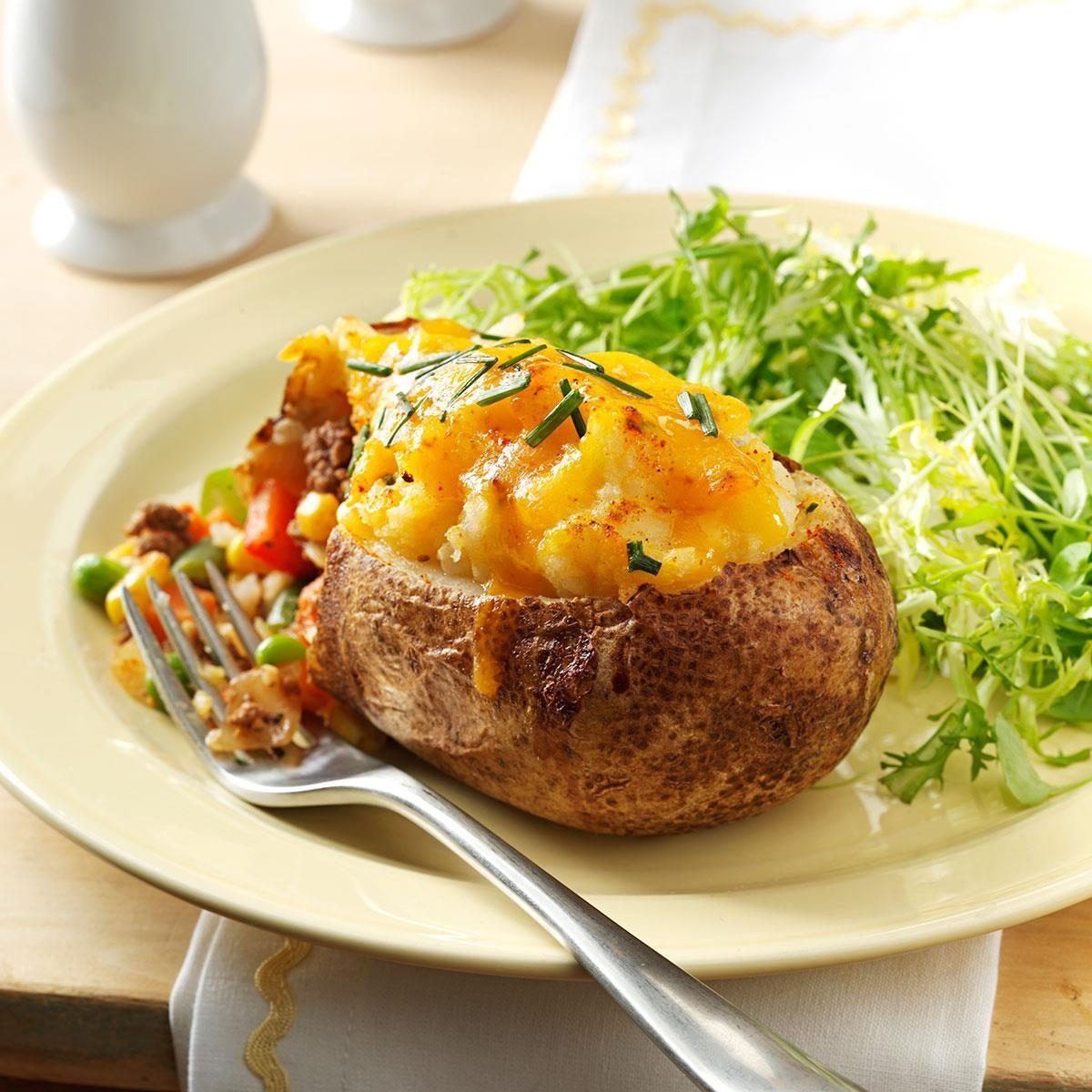 Super Stuffed Baked Potatoes: Shepherd's Pie Twice-Baked Potatoes Recipe