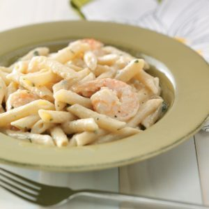 Shrimp Penne with Garlic Sauce