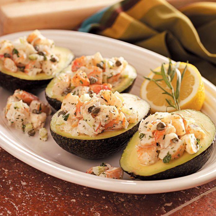 Shrimp Salad-Stuffed Avocados