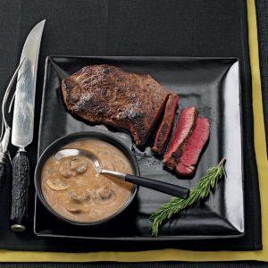 Sirloin Steak with Rich Mushroom Gravy