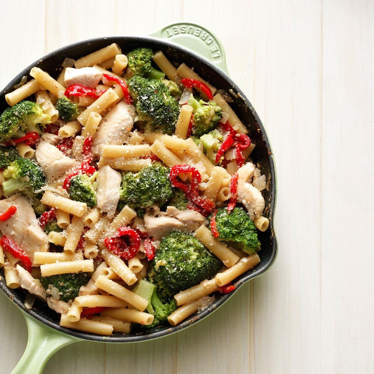 Skillet Ziti With Chicken And Broccoli Recipe
