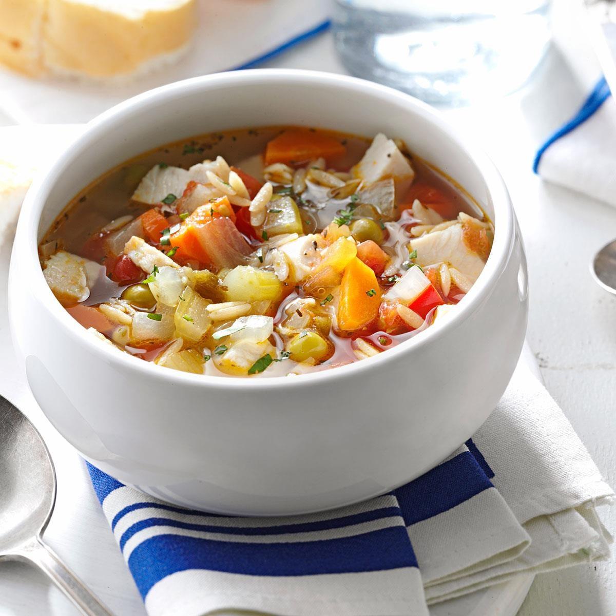 Skinny Turkey-Vegetable Soup Recipe