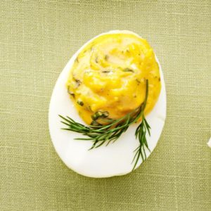 Slim Deviled Eggs with Herbs