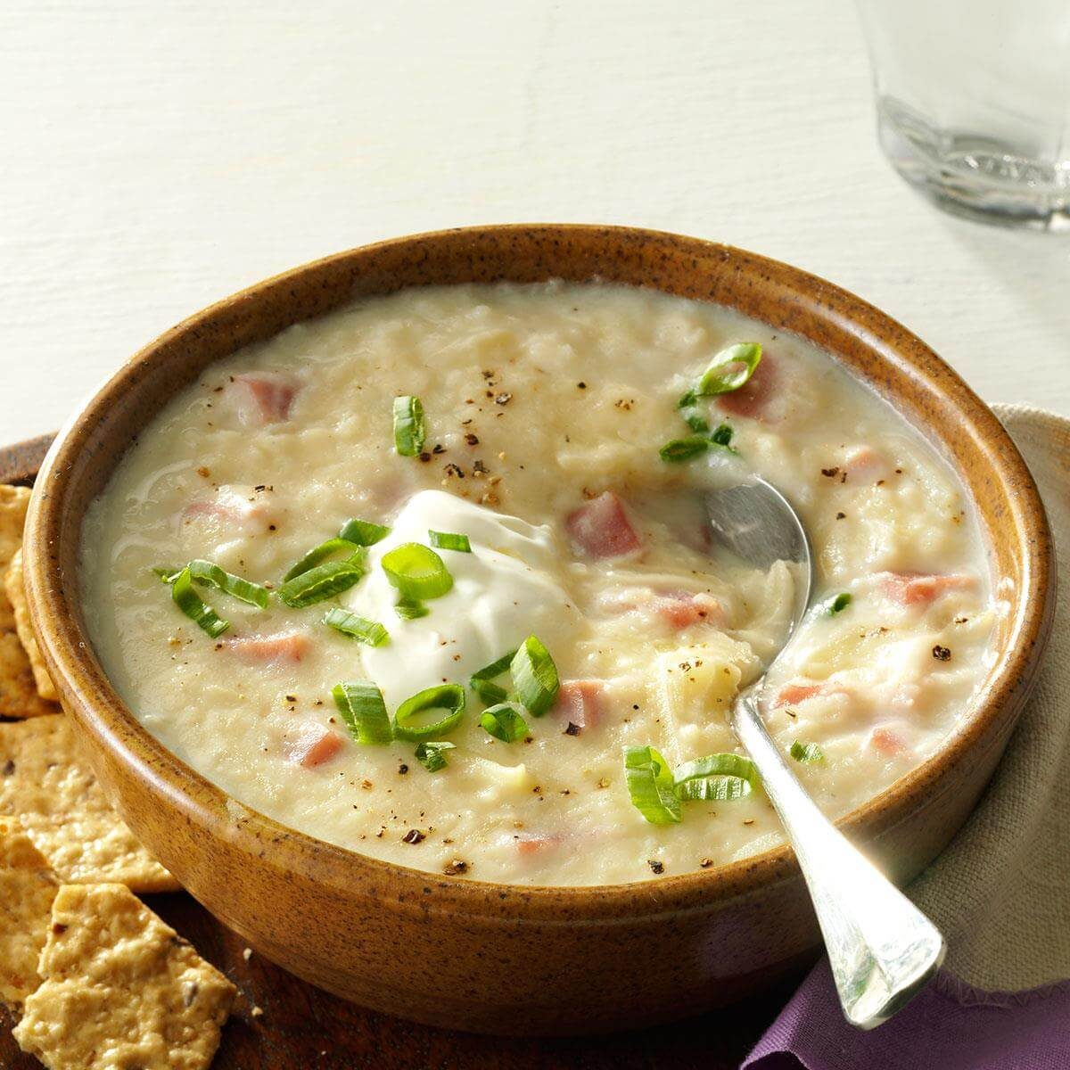 Slow Cooker Potato & Ham Soup Recipe