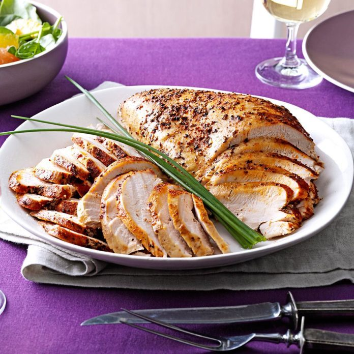 Slow cooker turkey breast recipe taste of home slow cooker turkey breast forumfinder Image collections