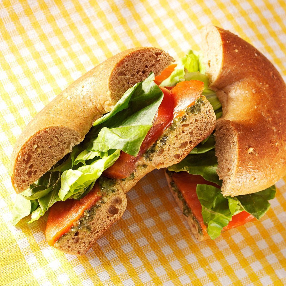 Smoked Salmon Bagel Sandwiches Recipe Taste Of Home