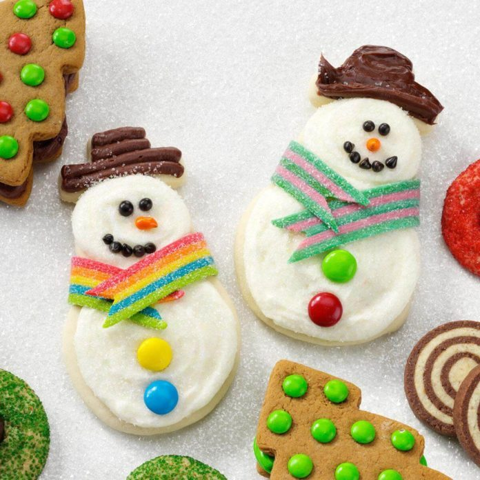 snowman butter cutouts recipe taste of home