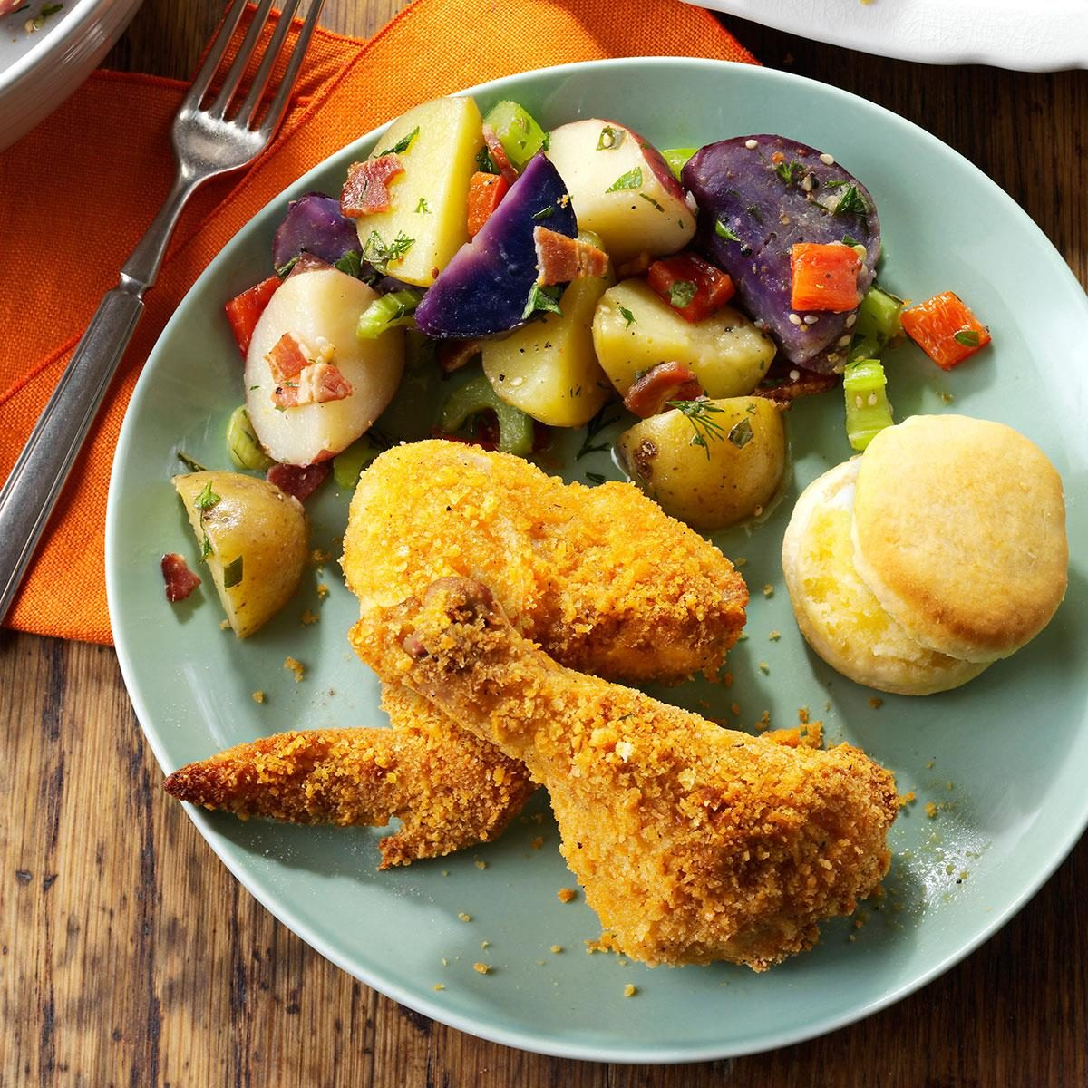 Southern Style Oven Fried Chicken Recipe Taste Of Home