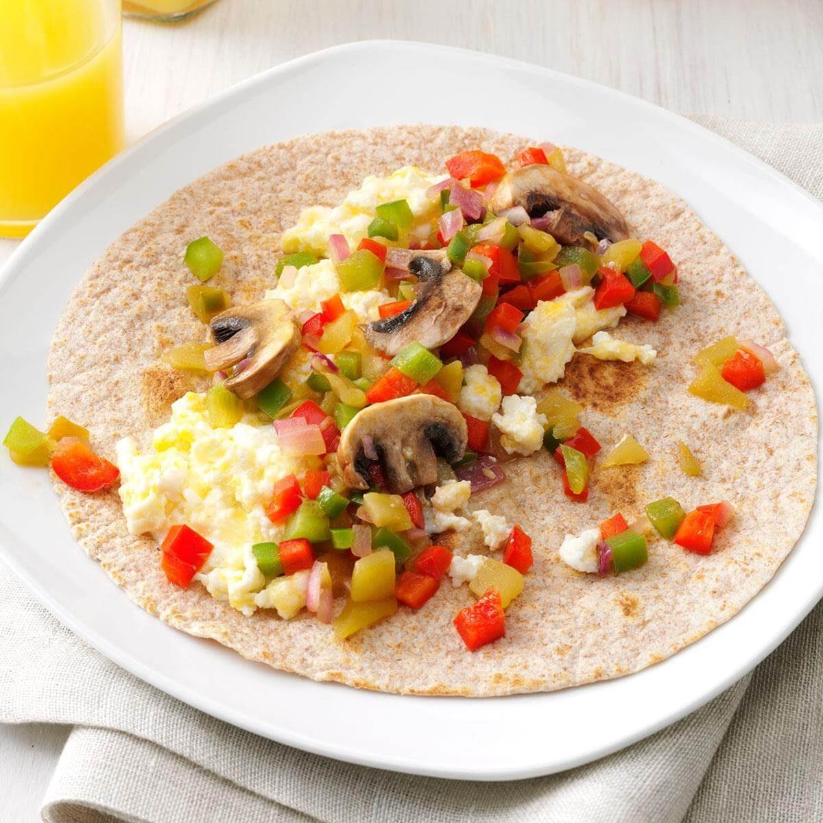 Breakfast Wraps Recipe: Southwest Breakfast Wraps Recipe