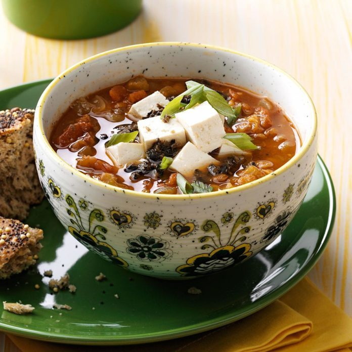 Southwest Vegetarian Lentil Soup