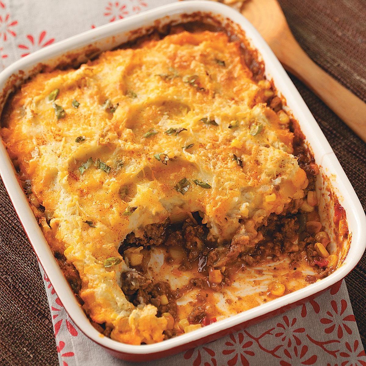 Southwestern Shepherd's Pie Recipe | Taste of Home  Southwestern Sh...
