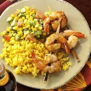 Southwestern Shrimp with Salsa