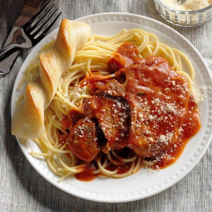 Spaghetti Pork Chops