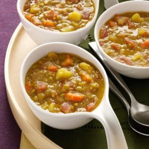 Spiced Split Pea Soup