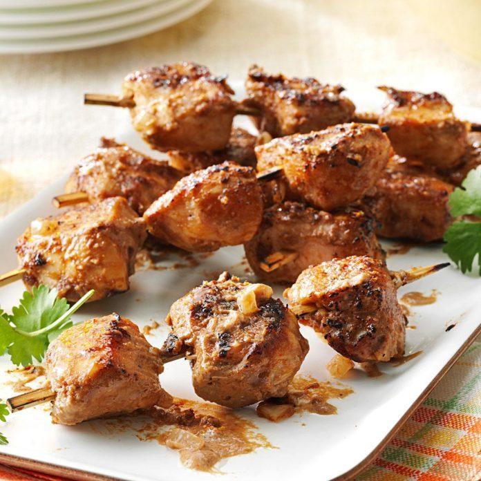 Spicy Peanut Chicken Kabobs