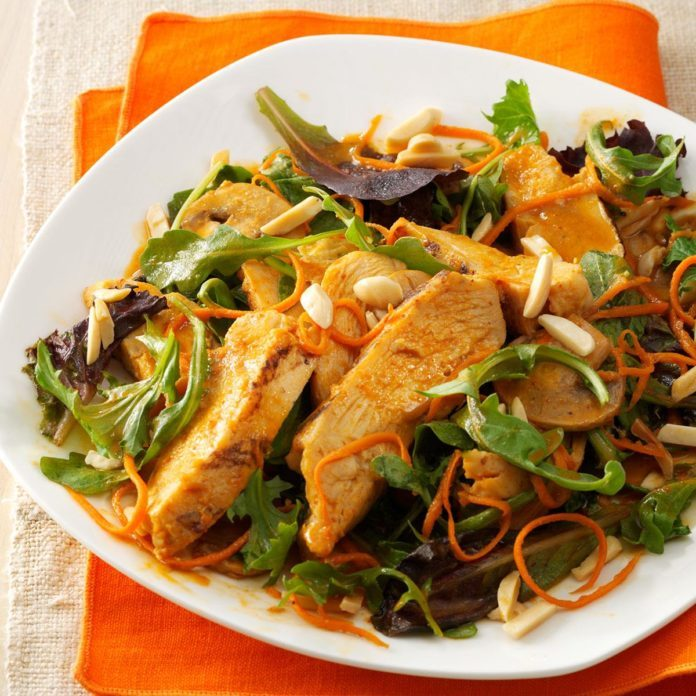 Spicy Sesame Chicken Salad