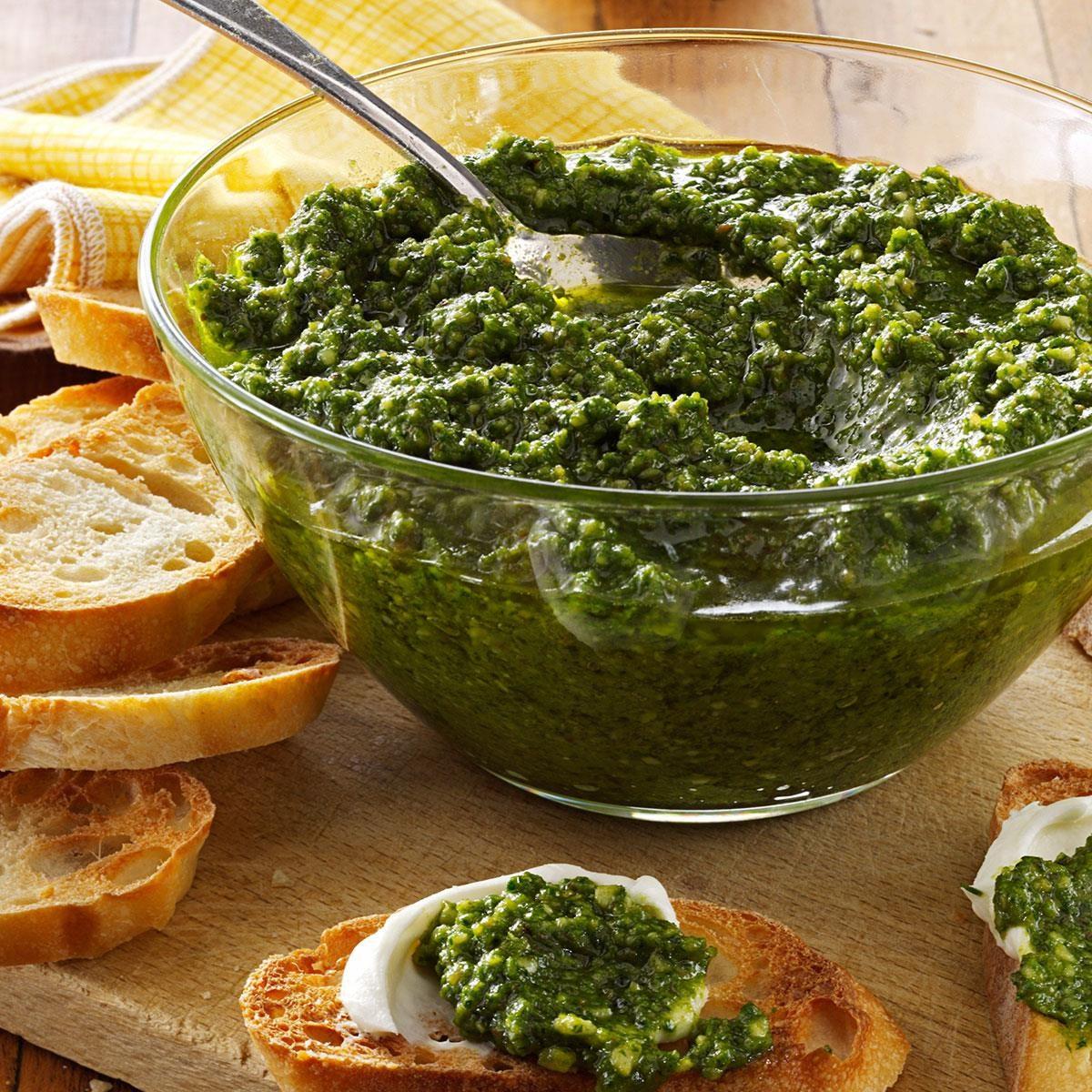 Spinach-Basil Pesto Recipe