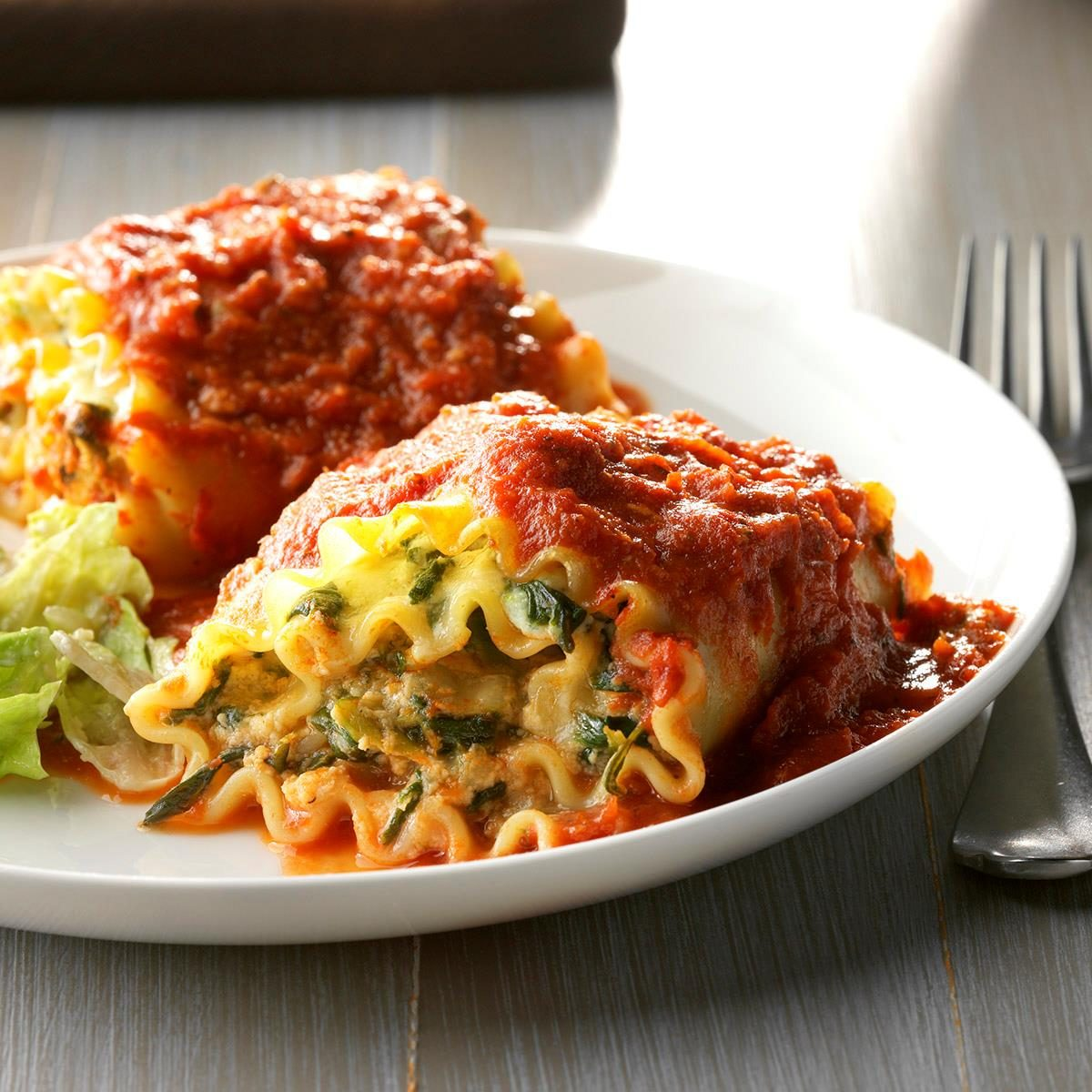 spinach lasagna roll ups taste of home