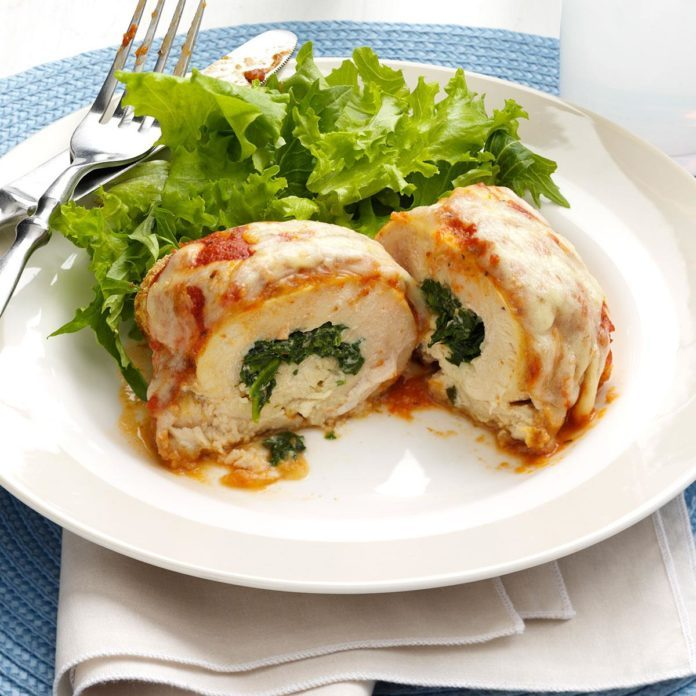 Spinach-Stuffed Chicken Parmesan