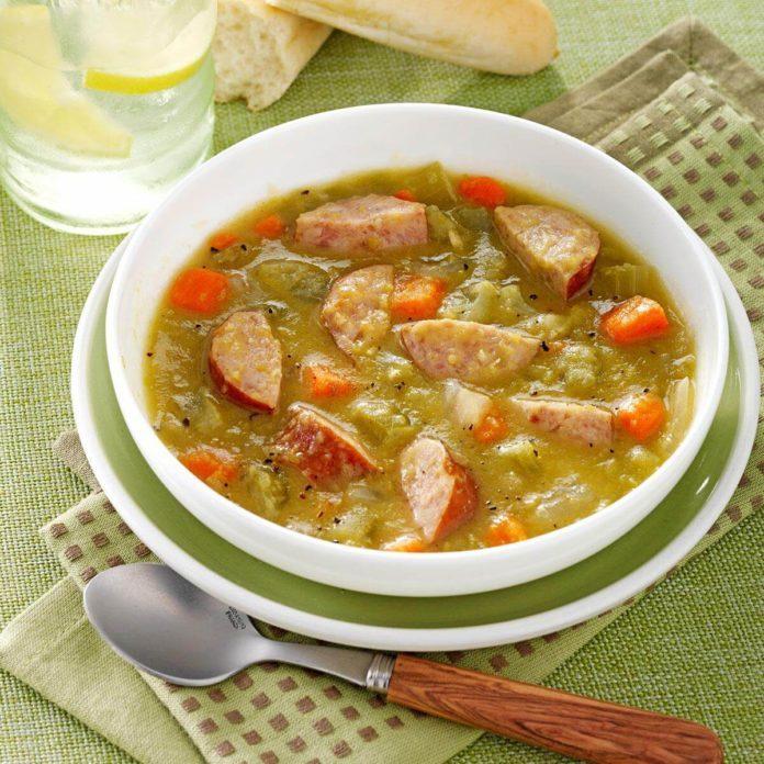 Split Pea Sausage Soup