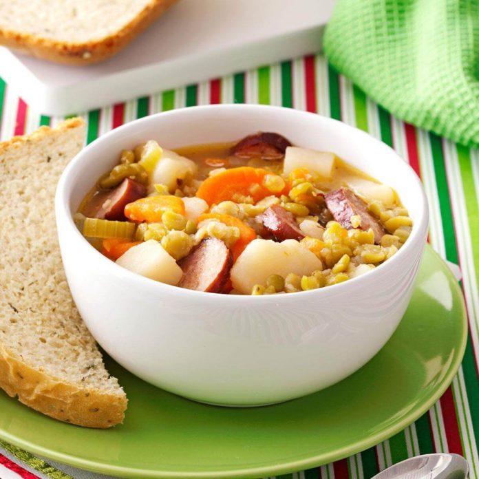 Split Pea and Sausage Soup
