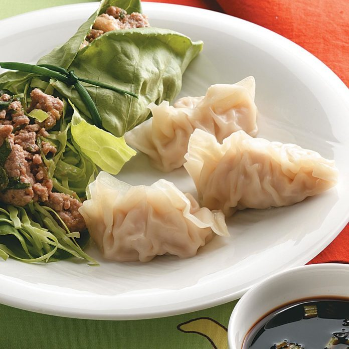 Steamed Pork and Shrimp Dumplings