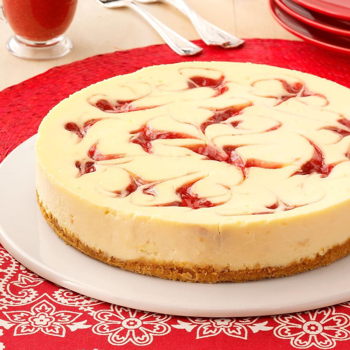 Strawberry Cheesecake Recipe: Strawberry Cheesecake Swirl Recipe