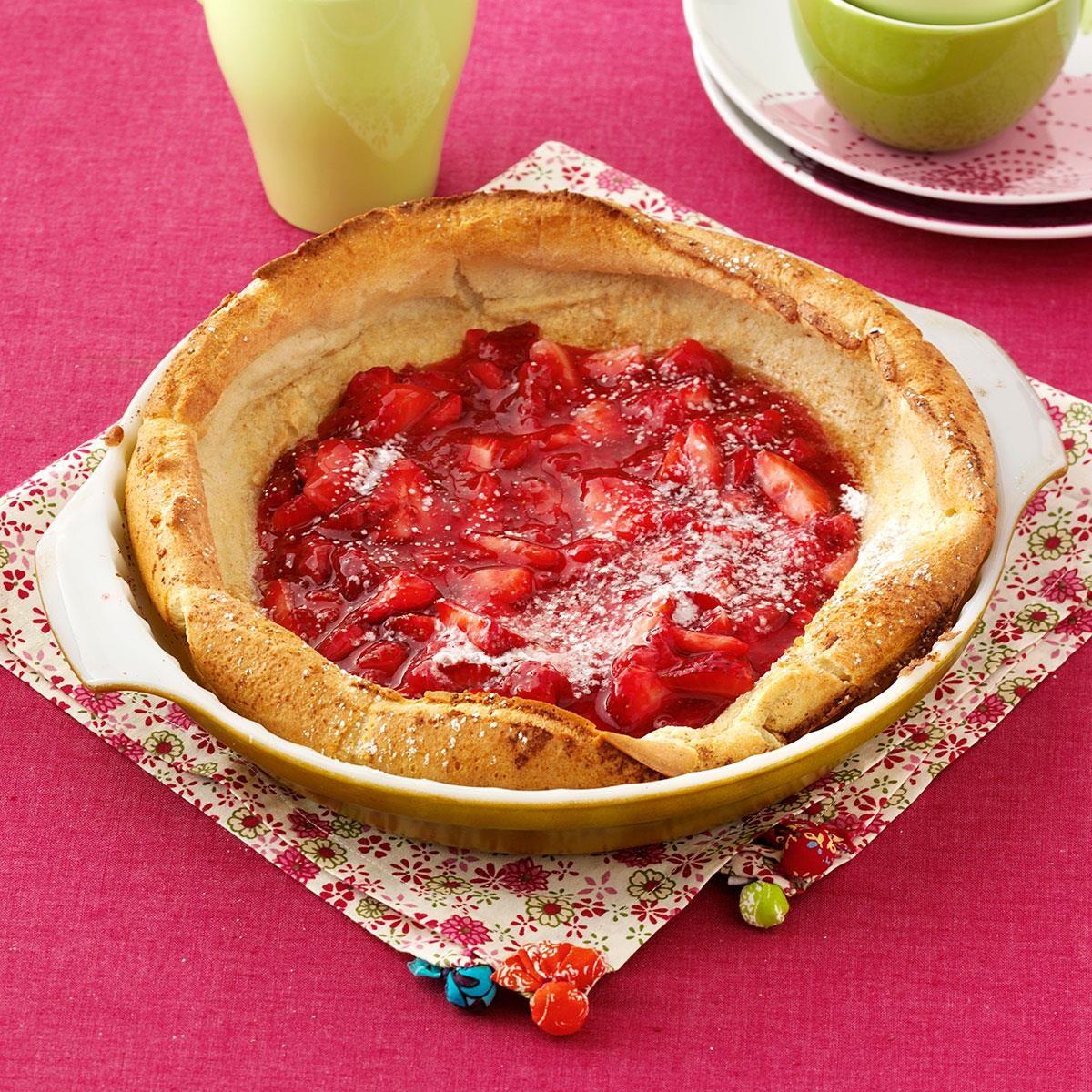 Strawberry Puff Pancake