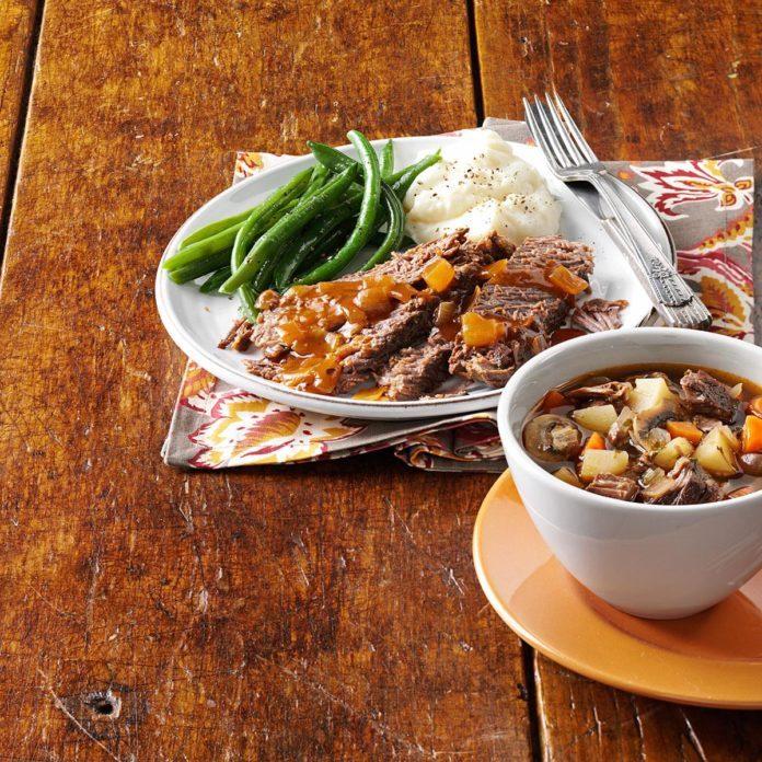 Sunday Herbed Pot Roast Soup