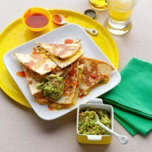 Super Quick Shrimp & Green Chili Quesadillas