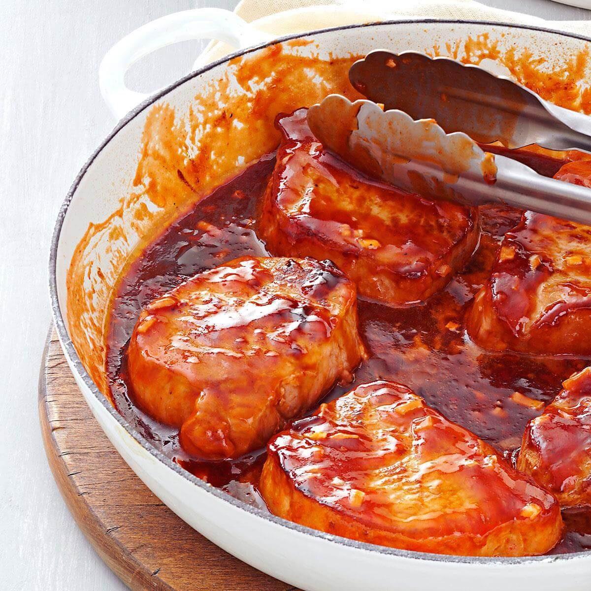 Sweet Barbecued Pork Chops Recipe