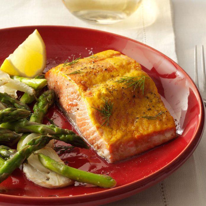 Sweet Mustard Salmon