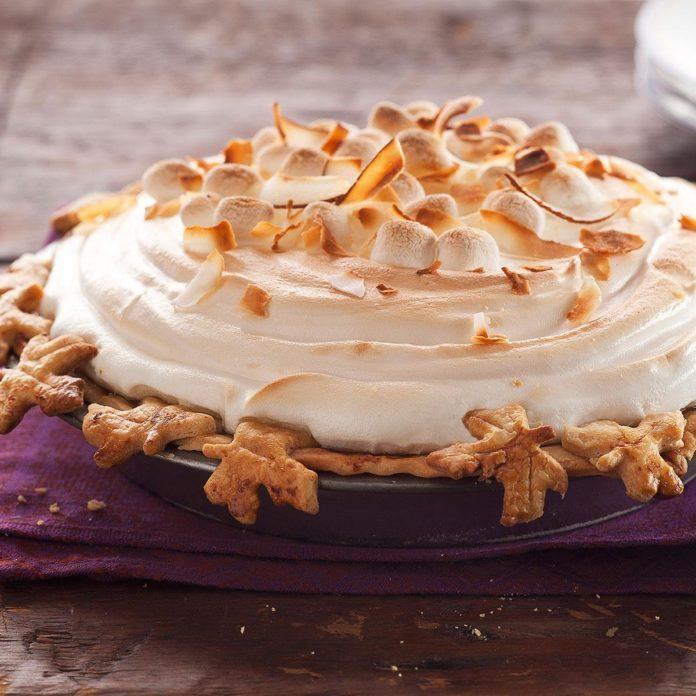 Sweet Potato Coconut Pie with Marshmallow Meringue