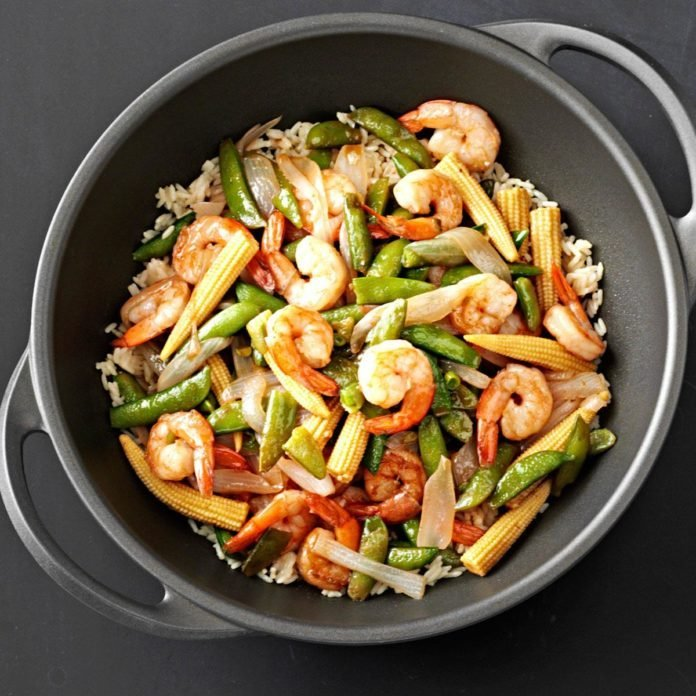 Sweet and Sour Shrimp in a Hurry