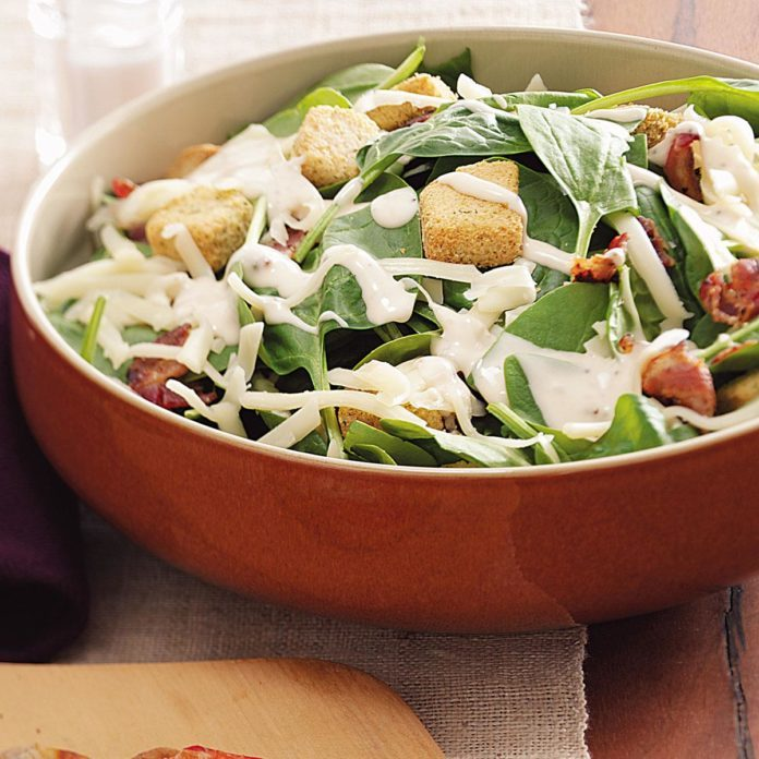 Swiss Spinach Salad